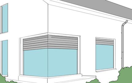 Schützen Sie ihre Ganzglaseckfenster mithilfe von Eckrollläden